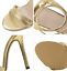 Womens-Gold-Stiletto-Strappy-Sandals-Sexy-High-Heels-Open-Toe-Buckle-Pumps-Shoes thumbnail 3