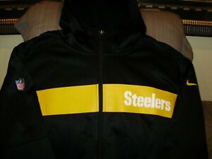best loved 6b5a3 a7445 Details about NFL Pittsburgh Steelers Nike Therma-Fit Seismic Full Zip  Hoodie Jacket Men's 2XL