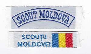SCOUTS-OF-MOLDOVA-SCOUT-OFFICIAL-FLAG-STRIP-Patch-SET