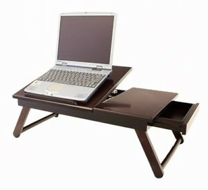 Laptop Desk Wooden Portable Notebook Computer Table Bed