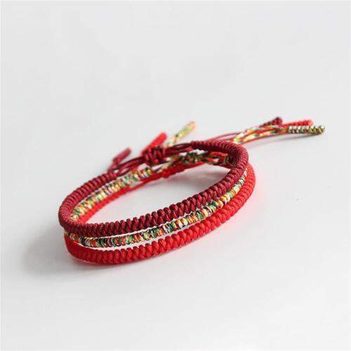 Handgemachte buddhistische Knoten Seil tibetische Armband Glück Seil Armband