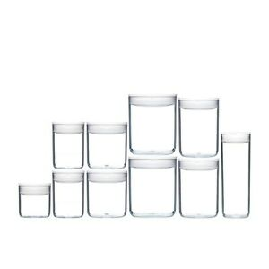 CLICKCLACK 10pc AIR TIGHT PANTRY ROUND STARTER CONTAINER SET 10 PIECE