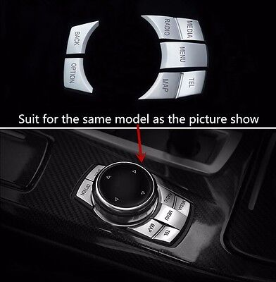 Steel Console Centre Water Cup Holder Cover Trim for BMW 5 Series F10 2011-2015