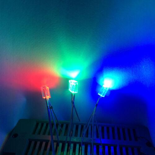50pcs Rectangular LED 255 Diode RGB Square 2X5X5mm 4pins Light-Emitting-Diodes