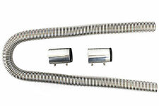 """Universal 48"""" Stainless Steel Radiator Flexible Coolant Water Hose Kit With Caps"""