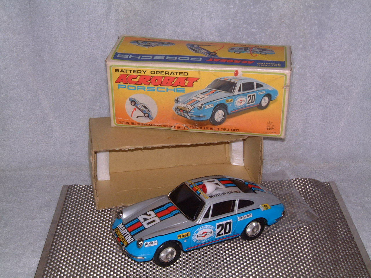 TPS PORSCHE ACROBAT 911 W BOX. PERFECTLY & FULLY WORKING T.P.S. VERY RARE