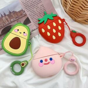 Cute-cartoon-fruit-Shockproof-Silicone-Cover-Earphone-Case-For-Apple-AirPods