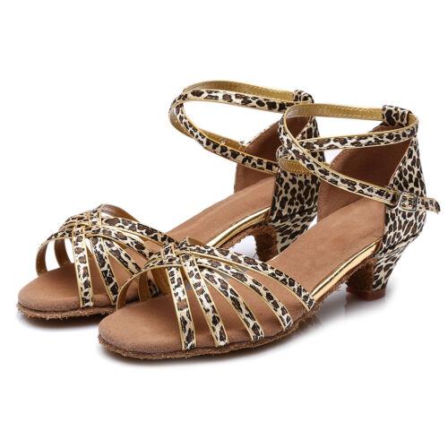 Latin Dance Shoes Ladies//Girls//Women Low Heel Ballroom Tango Dance Shoes