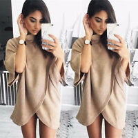 Womens Backless Long Sleeve Hollow Knitted Sweater Blouse Pullover Jumper Top UK