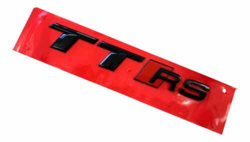 Original Audi Black Edition TTRS//TT RS 8j 8 S Emblem Logo Noir Arrière