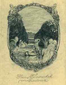 AMADEUS-DIER-Schoenbrunn-Exlibris-Rococo-Women-Palace-Etching-C3-1931-Vienna-Wien