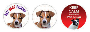 2 X Jack Russell Hund Vinyl Auto,Transporter Abziehbild Haustier Tierliebhaber