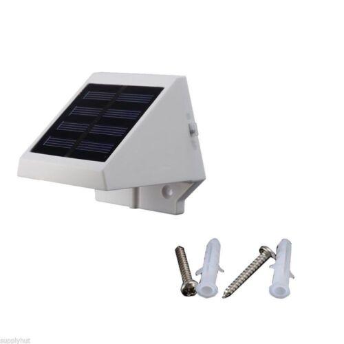 4 DEL Energie Solaire Escalier clôture jardin Sécurité Lampe d/'extérieur étanche lumière