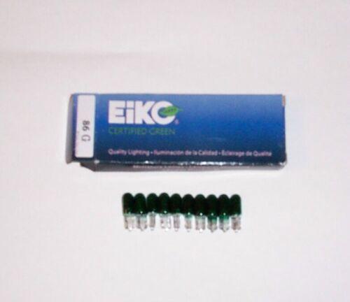10 #86 Eiko Green Light Bulbs Creature From The Black Lagoon Pinball Machine New