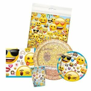 Image Is Loading EMOJI Birthday Party Supplies Smiley Tableware Balloons Banners