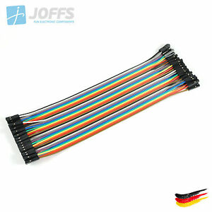 40-x-20cm-FEMALE-zu-FEMALE-Jumper-Kabel-Dupont-Cable-Breadboard-Wire