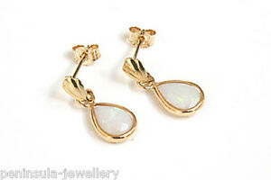 9ct-Gold-Opal-Teardrop-Dangly-Earrings-Gift-Boxed-Made-in-UK-Christmas-Gift