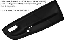 BLACK STITCHING FITS  VW LUPO 1998-2005 2X FRONT DOOR CARD SKIN COVERS ONLY