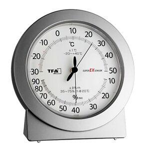 pr zisions thermometer hygrometer super ex tfa luftfeuchtigkeit messen ebay. Black Bedroom Furniture Sets. Home Design Ideas