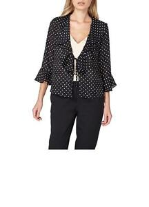 Dorothy-Perkins-Spot-Tie-Front-Cover-Up-Black-Size-20-rrp-28-00-SA078-ii-05