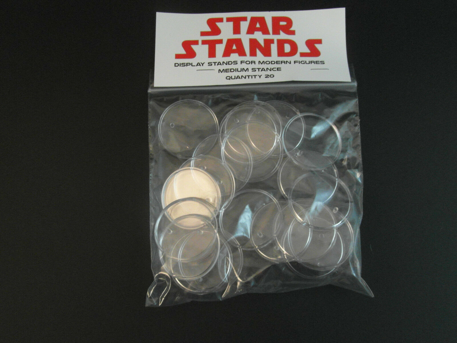 200 x New 1.5  Modern Star Wars Figure Display Stands-Wide stance -1995 - up T4c