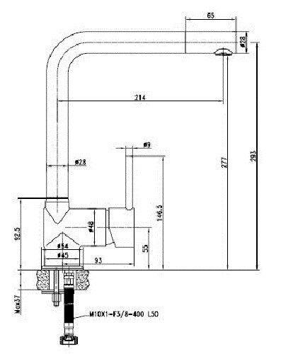 VAF Spültischarmatur Küchenarmatur 8895 chrom L-Auslauf made in Germany