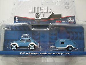 1948-Volkswagen-Beetle-Teardrop-Caravan-Greenlight-1-64-lim-Edition