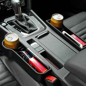 Autositz-Luecke-Aufbewahrungsbox-Muenze-Organizer-Ablagefach-Getraenkehalter-DE