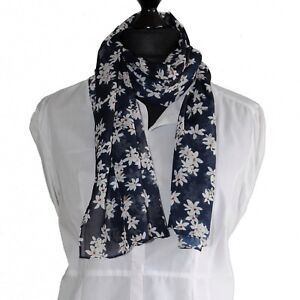 Lightweight dark Leopard Print Summer Scarf Crinkle Chiffon with Magnetic Clip