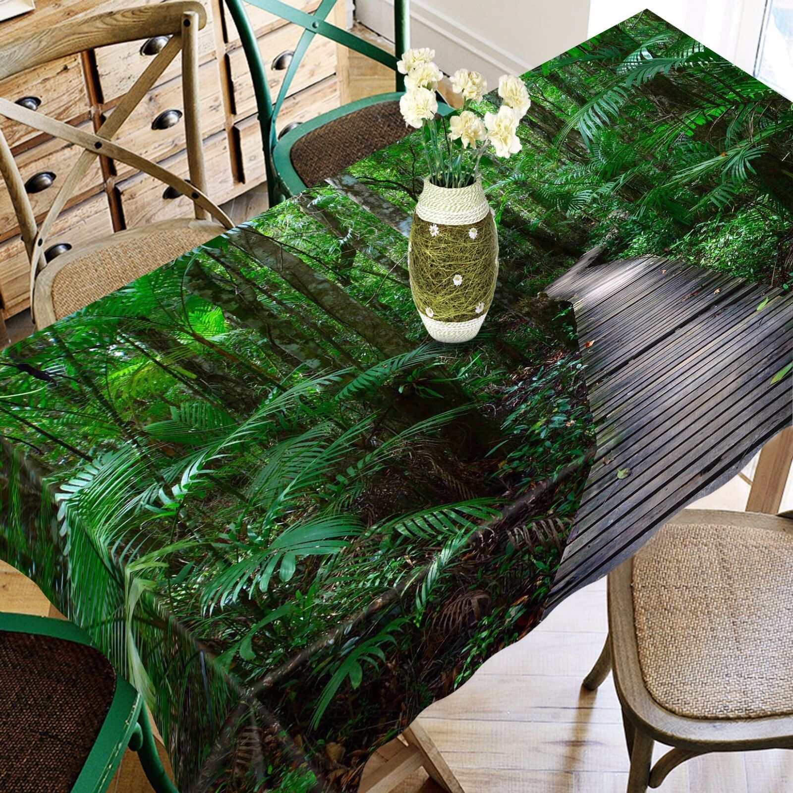 3D Forest 736 Tablecloth Table Cover Cloth Birthday Party Event AJ WALLPAPER AU