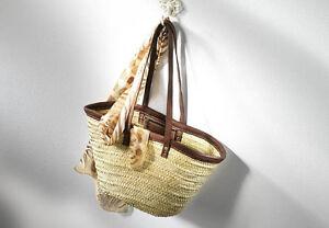 Tasche Handtasche Bag Strandtasche Schultertasche Leder Palmtasche Ibizatasche 3l1JcFTK