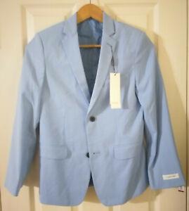 Nautica Boys Suit Vest Grey//Blue Size L 14//16 Regular