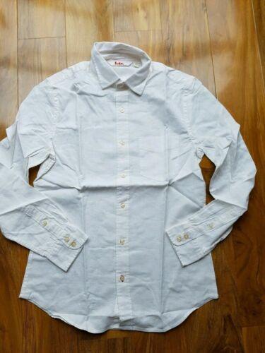 Boden Mens Long Sleeved LINEN MIX WHITE Shirt UK SIZE XS BRAND NEW MA444