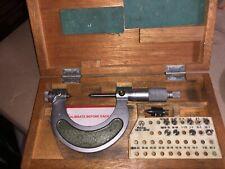 Mitutoyo Thread Screw Micrometer No 126 138a 1 2 001 10 Anvils