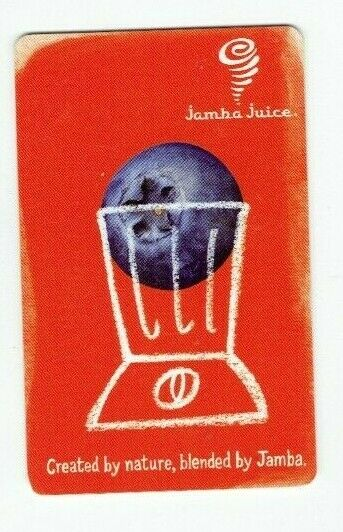 Jamba Juice Gift Card - Blueberry in a Blender / Smoothie Restaurant - No Value