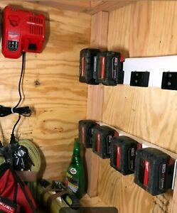4X 4PACK - M18 Battery Holder Milwaukee 18V LOCK IN OR SLIDE IN-- FREE SHIPPING