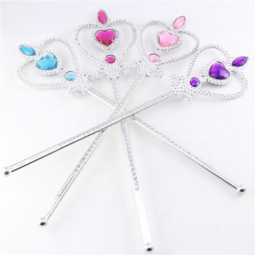 4Pcs Set Princess Queen Anna Elsa Wand Crown Gloves Costume Cosplay Accessories