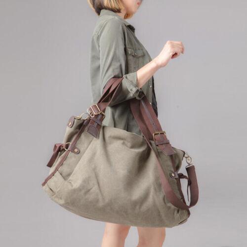 Vintage Retro Leisure Casual Canvas Shoulder Travel Bag handbag Large capacity