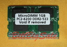 1GB X1 MicroDIMM 172PIN DDR2-533 PC2-4200 533MHz 1G PANASONIC FUJITSU MY RAM 09