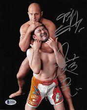 Fedor Emelianenko & Kazushi Sakuraba Signed 8x10 Photo BAS Beckett COA Pride FC