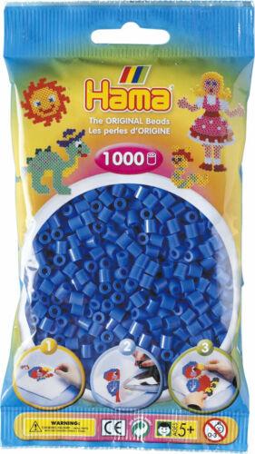 Hama 1000 Midi Bügelperlen 207-09 Hellblau Ø 5 mm Perlen Steckperlen Beads