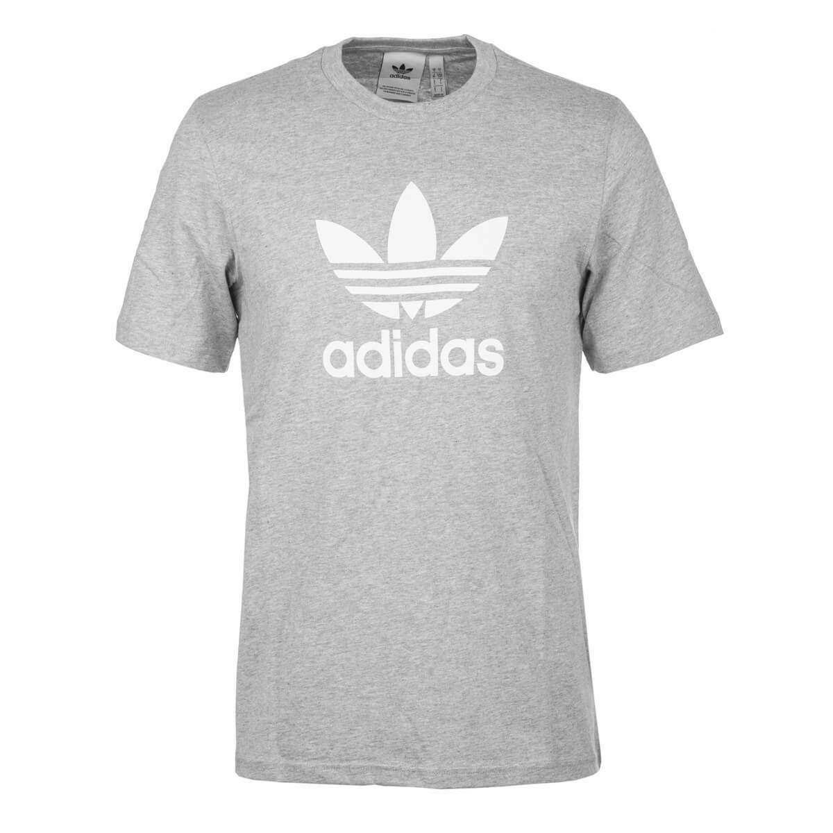 Adidas Trefoil Heather Grey Medium Print Logo with Shirt