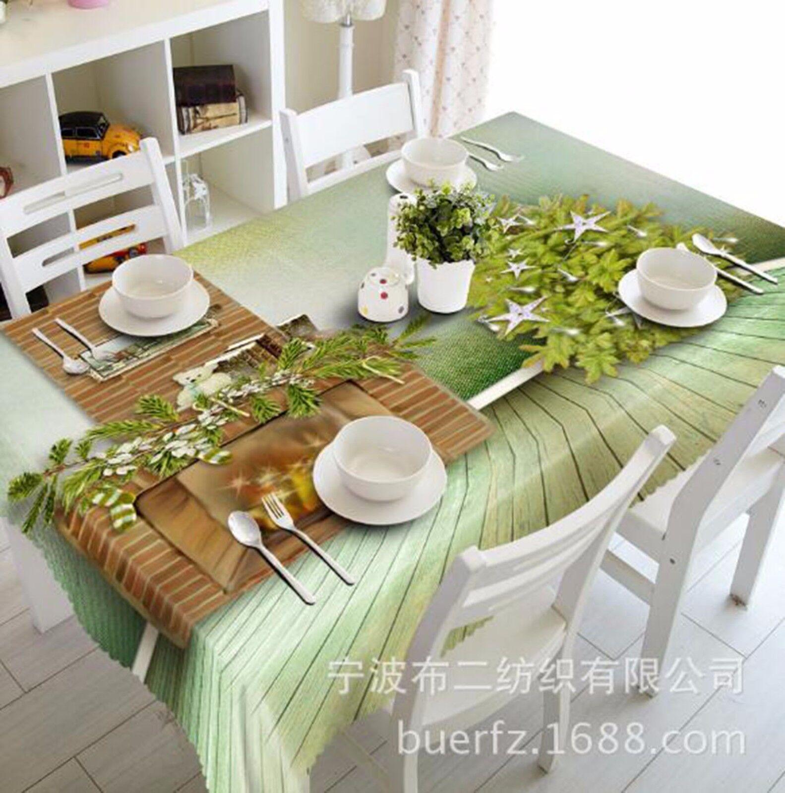 3D feuilles 53 Nappe Table Cover Cloth fête d'anniversaire AJ papier peint Royaume-Uni Citron