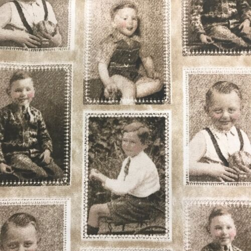 Set of 8 Fabric Vintage Swatch Images From Australia CHARMING 1950/'S BOYS