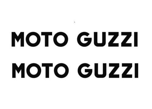 "Moto guzzi  Motorcycle 9/"" x 1.5/"" weather proof Vinyl decal  sticker x 2pcs"