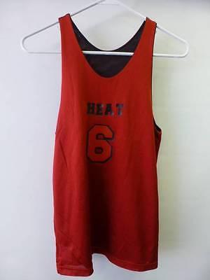 promo code d5b75 7ee23 yth kids boys Miami Heat LEBRON JAMES #6 reversible ...
