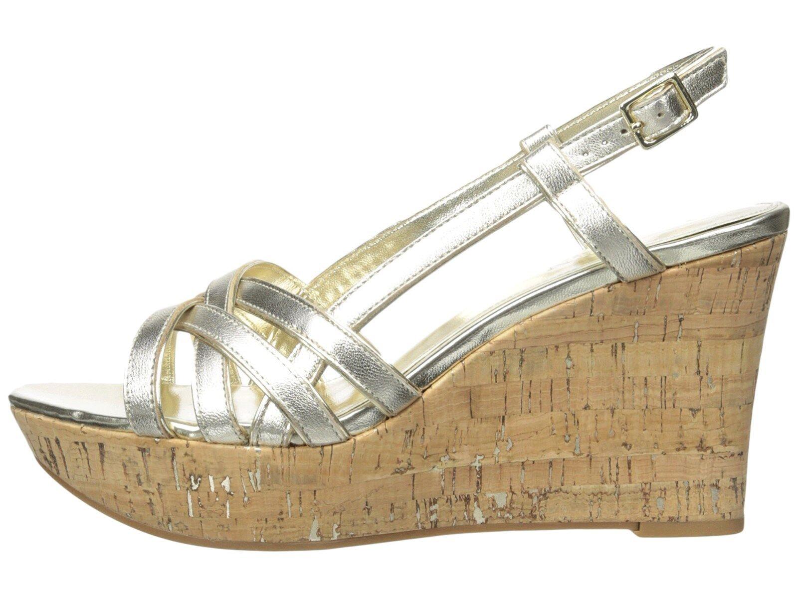 RALPH LAUREN QUAYLIN PLATINO METALLIC WEDGE SANDAL chaussures chaussures chaussures MULTITailleS AS292 58b200