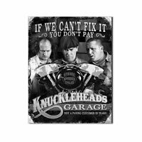 Three Stooges Tin Metal Sign : Knuckleheads Garage , 16x13, New, Free Shipping on Sale