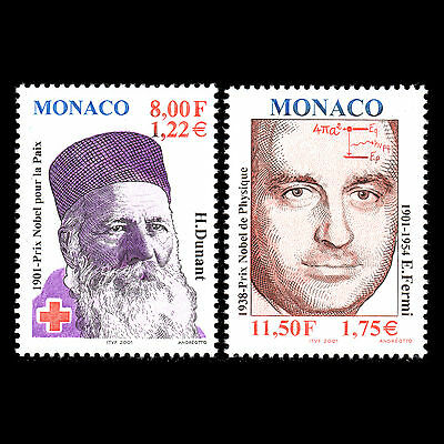 Europa Monaco 2001-100th Jubiläum Der Nobelpreis Wissenschaft Sc 2220/2 Mnh Ausreichende Versorgung Briefmarken
