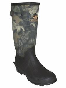 Proline W7063-7 Mens Waterproof Rubber Canvas Boots Break Up Camo Size 7